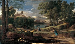Landscape with a man killed by a snake-Claude Lorrain