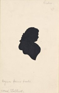 A silhouette of Strinasacchi, later in life as Madame Schlick