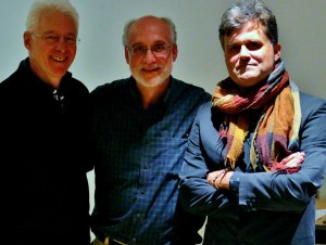with two favourite composers, Michael Alec Rose and Gregory Rose at Soundbox today. Their first meeting, and a great exchange of ideas ensued.