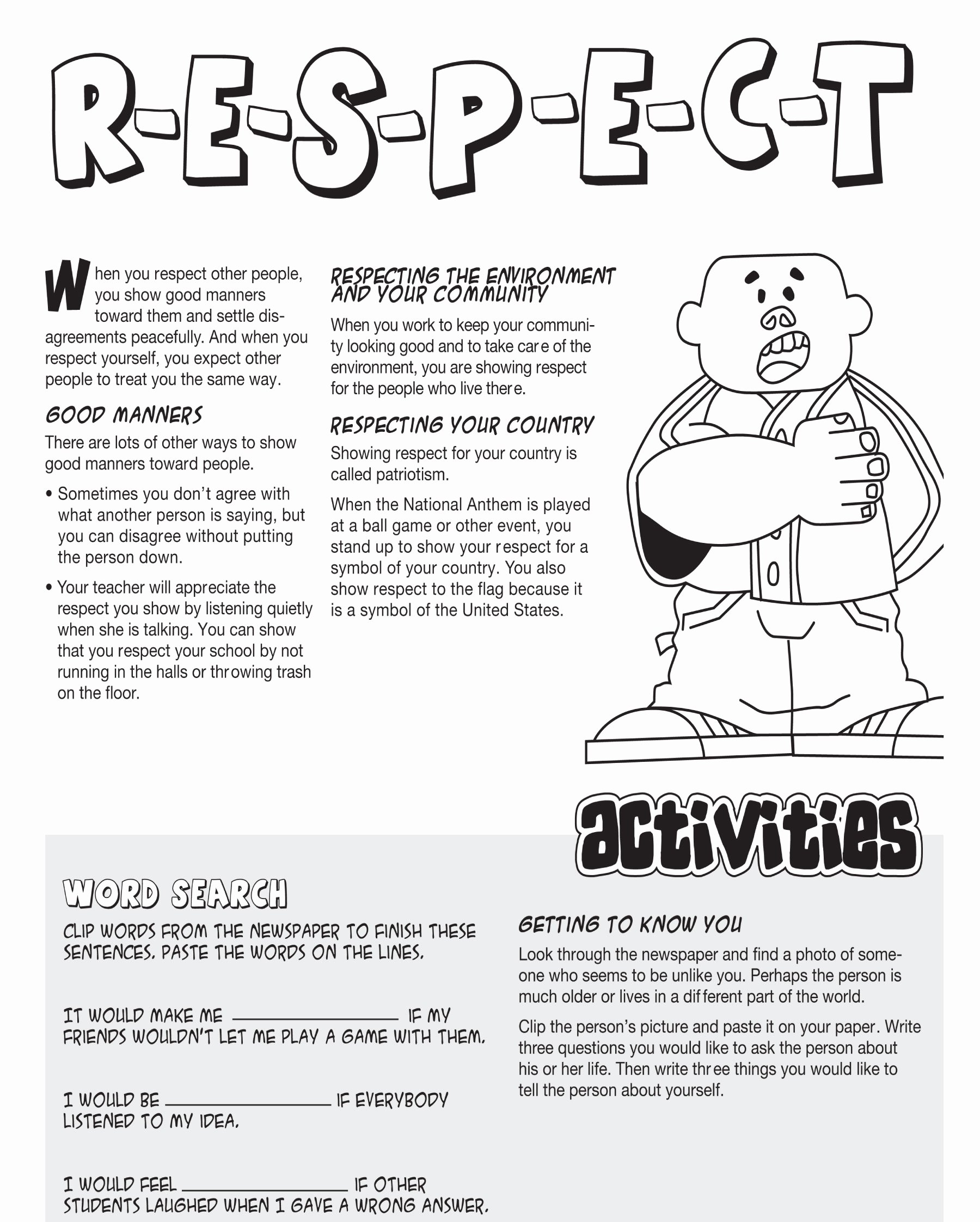 Respecting Others Property Worksheet