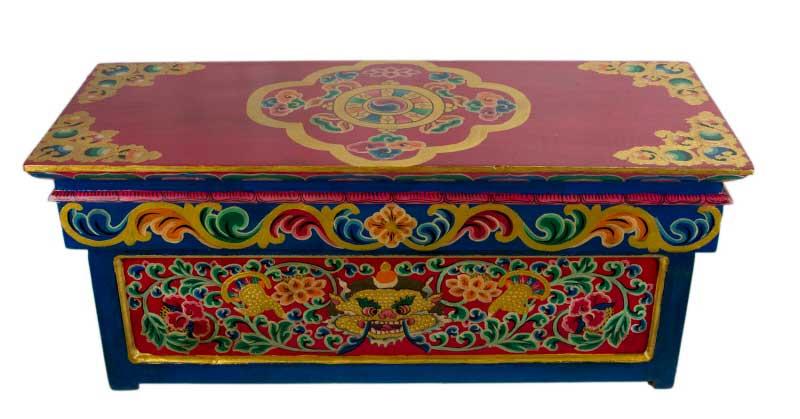 table basse tibetaine pliante meuble tibetain bouddhiste tibet 5917