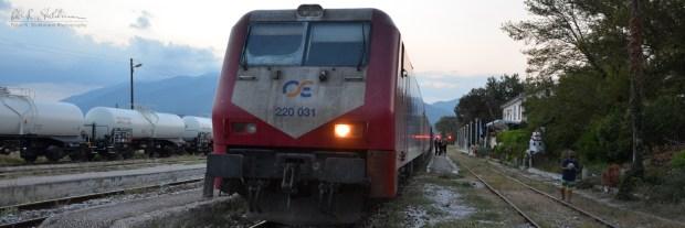 Zug der griechischen Bahngesellschaft TrainOSE an der griechisch-bulgarischen Grenze.
