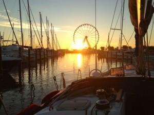 We set sail at sunrise from Rimini.