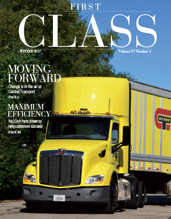Winter 2017 cover of First Class magazine