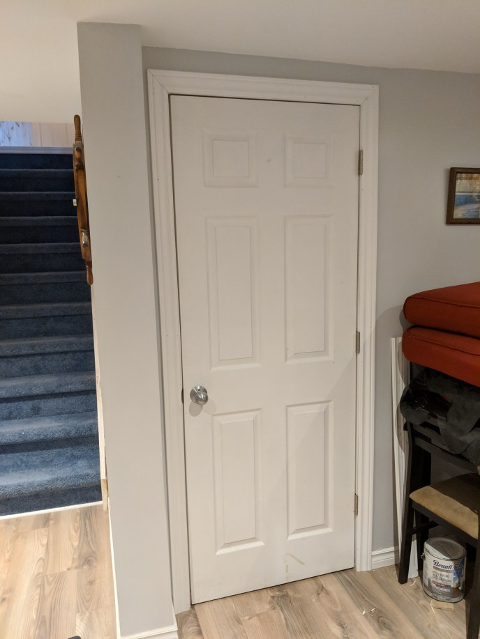Basement reno, new door installed