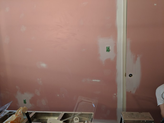 Wall mudded after wallpaper removal