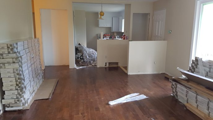 Hardwood flooring complete