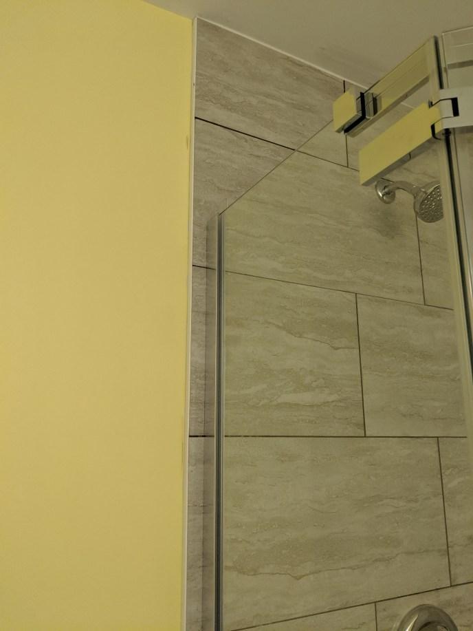 New door installed in a new tile showed