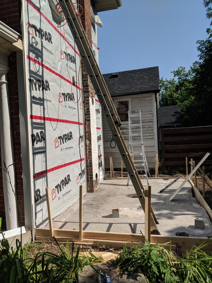 New siding going up on a house
