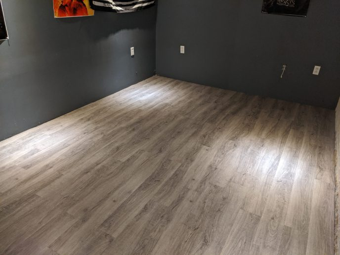 New luxury vinyl flooring