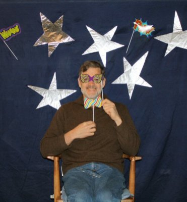 Hiel tries out the photo booth