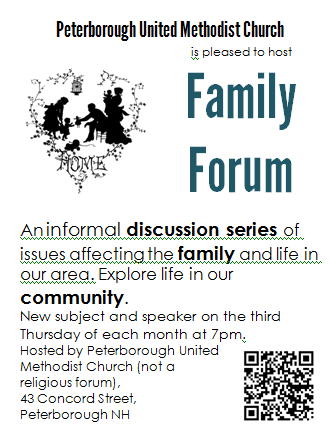 Family Forum Poster Quarter Page