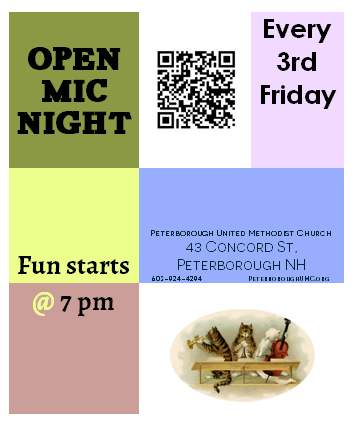 Open Mic Night Poster Quarter Page
