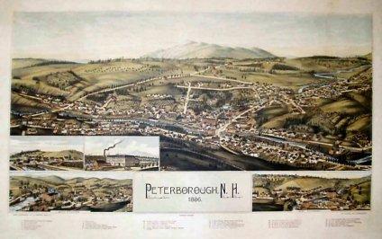Bird's eye view Peterborough NH 1886