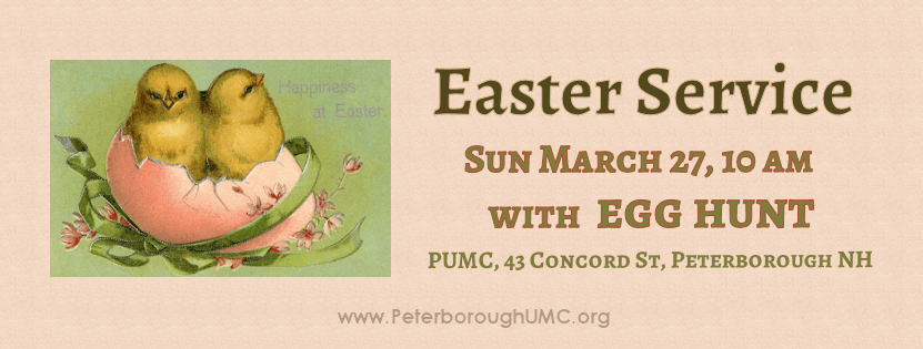 Easter service with egg hunt