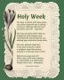 Holy Week - Original Poem