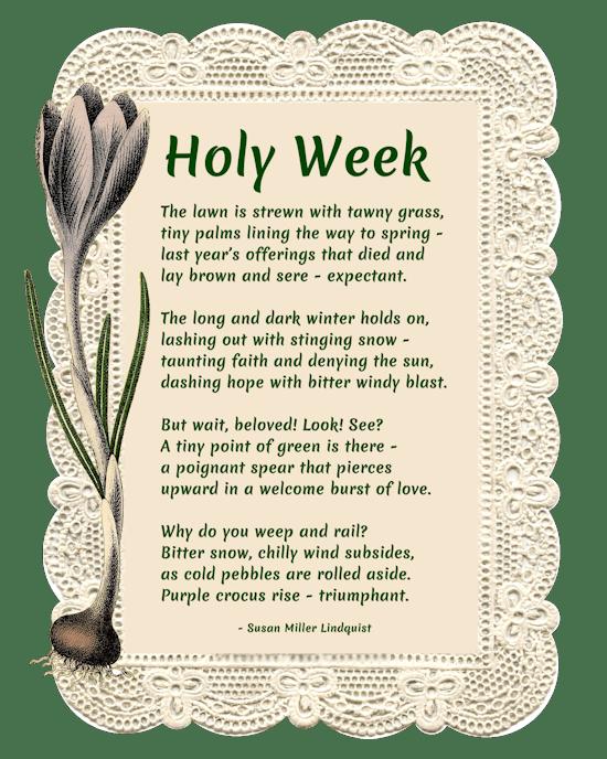 Holy Week poem