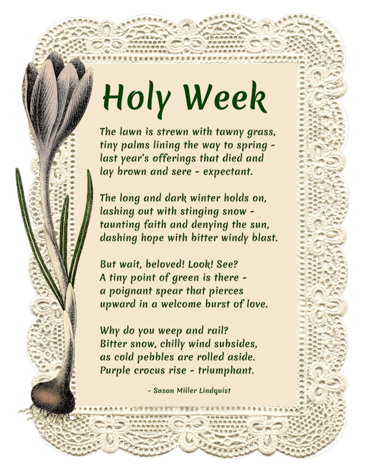 Holy Week poem
