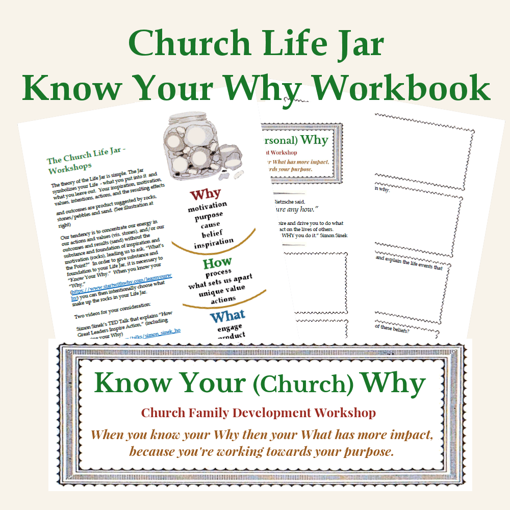 Church Life Jar - Know Your Why Workbook