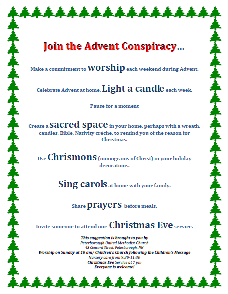 Join the Advent Conspiracy