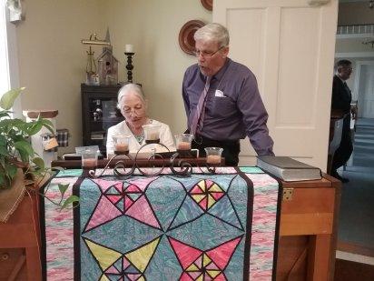 Martha and Andy at the piano