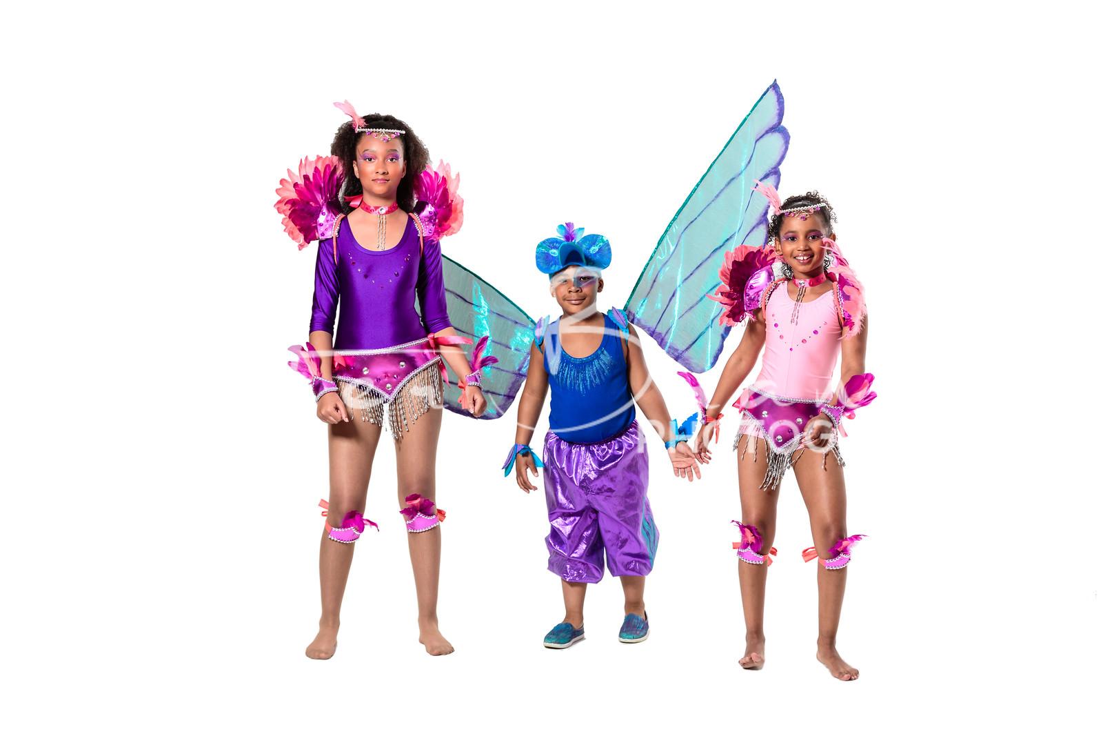 Sunday Costumes kids playing mas