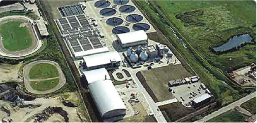 Biogas CHP on a UK water treatment plant