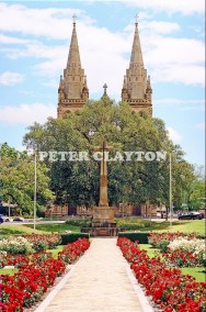 AUSTRALIA - ADELAIDE - CROSS OF SACRIFICE & ST PETERS CATHEDRAL R4