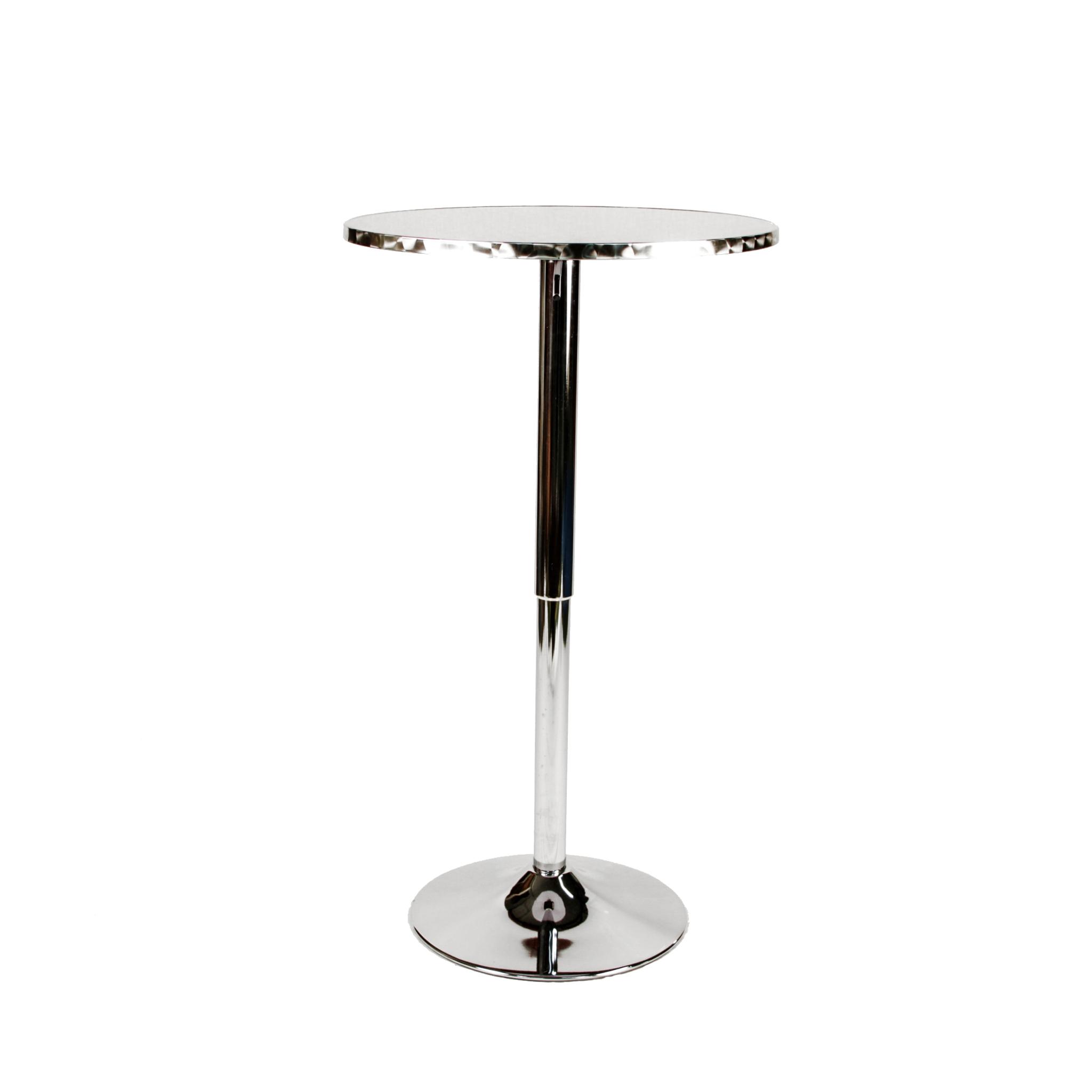 Silver Adjustable Pedestal Side Table