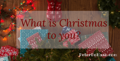 What is Christmas to you?