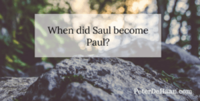 When Did Saul Become Paul?