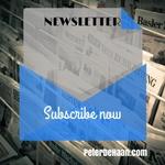 Peter DeHaan's Monthly Newsletter, Spiritually Speaking
