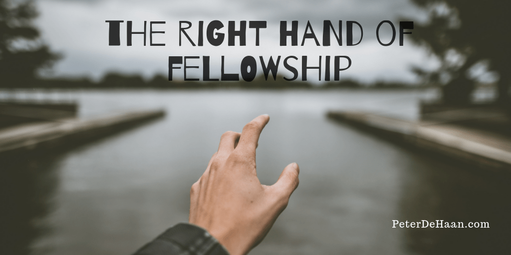 May We Receive the Right Hand of Fellowship