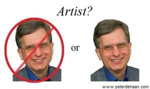 Is author Peter DeHaan an artist?