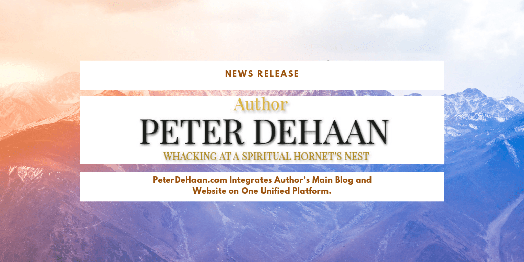 News Release: Peter DeHaan Overhauls Website