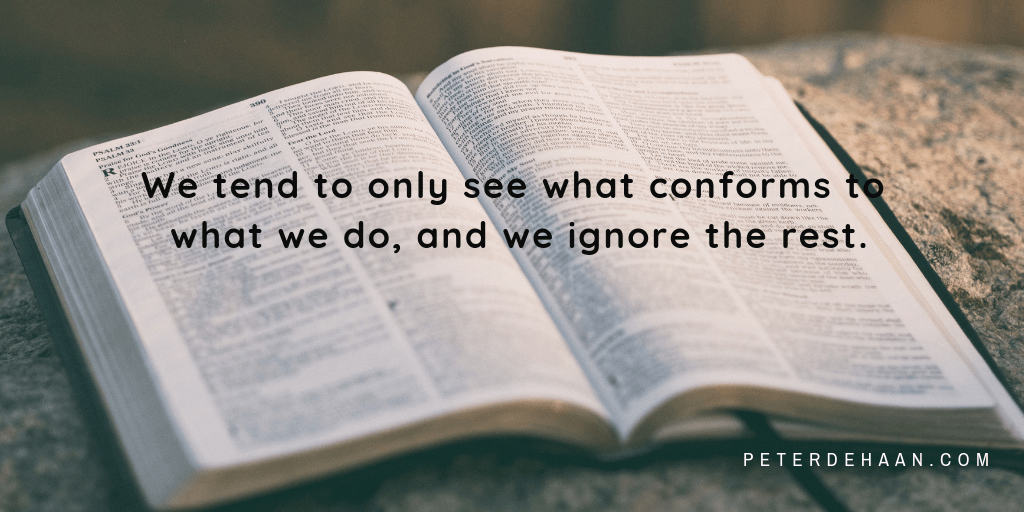 Do We Read the Bible with Preconceived Notions?