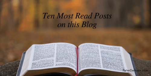 "Top Ten Posts About ""Pursuing Biblical God"" in 2014"