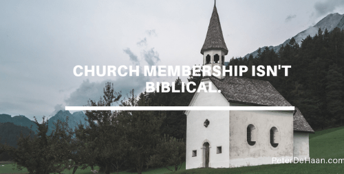Membership Has Its Privileges: Why We Shouldn't Join a Church