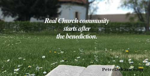 Church Community is Key: Seek Connection At All Costs