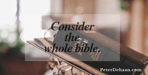 Christians Should Consider the Entire Bible