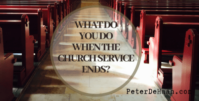 Enjoy Christian Community: How Long Do You Stay After the Service?