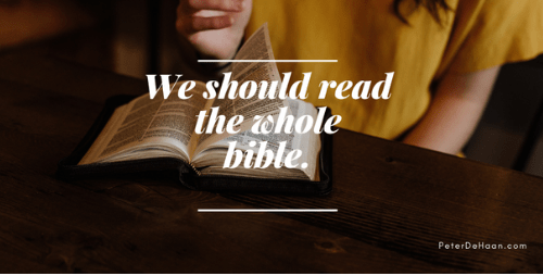 Do Christians Need to Read the Old Testament of the Bible?