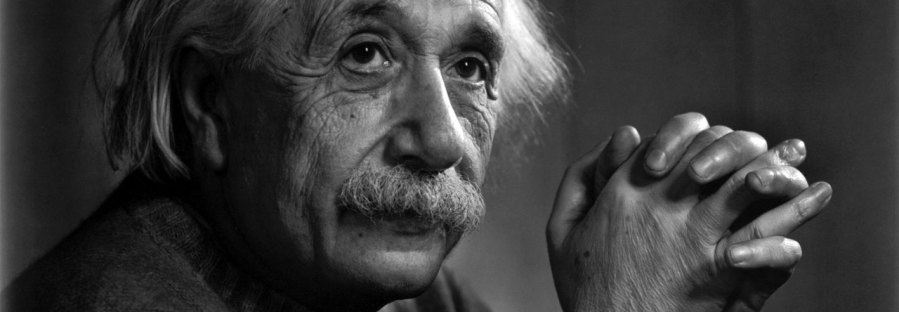 Albert Einstein looking thoughtful