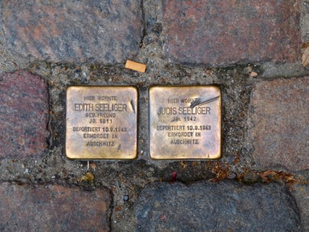 Stolpersteine. Copyright PD Smith