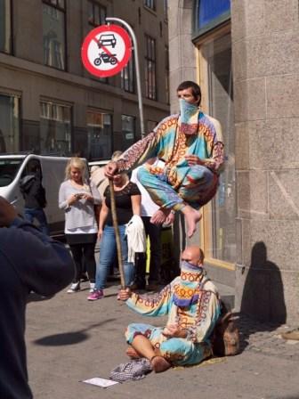 Copenhagen street performers,