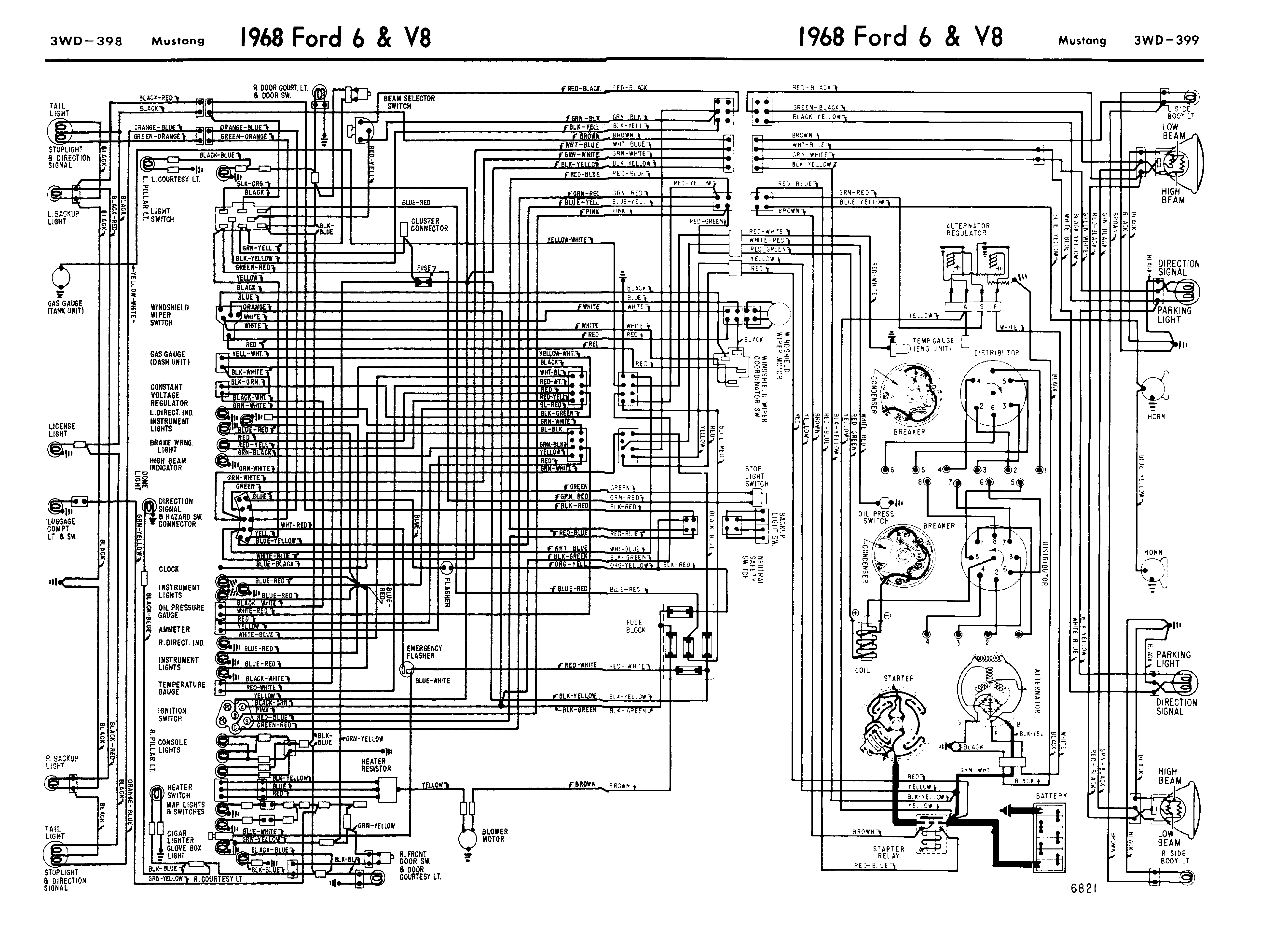 68mustang_wiring_guide1 1968 mustang wiring diagrams evolving software 2007 Mustang Wiring Diagram at reclaimingppi.co