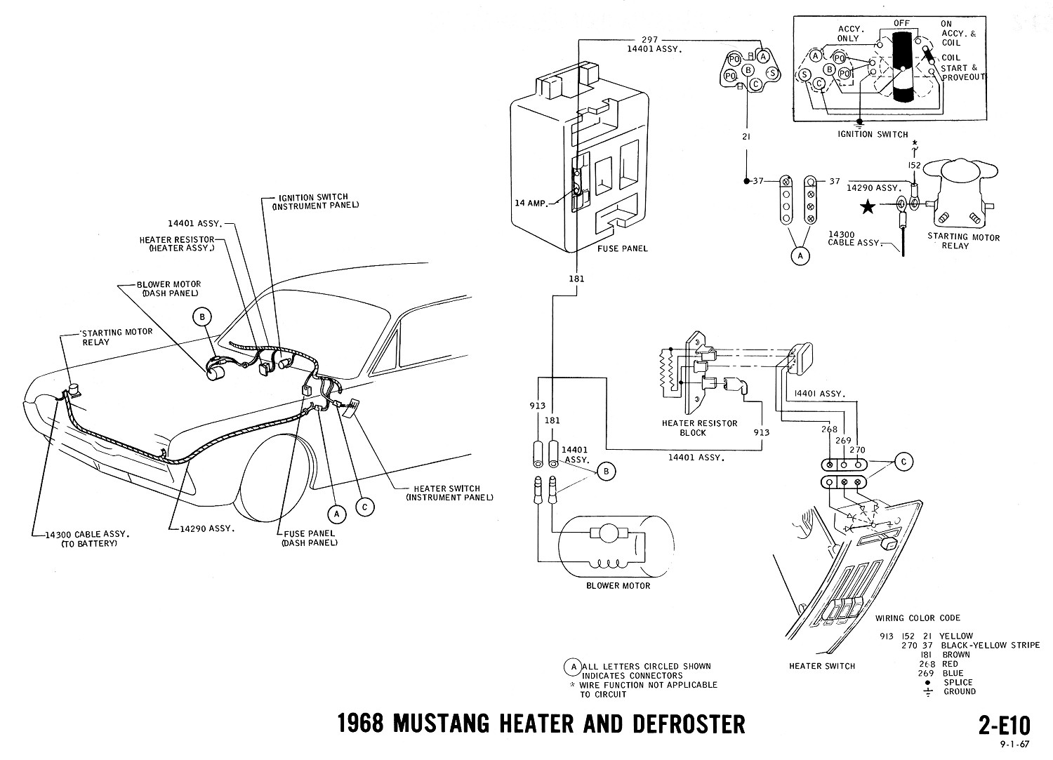 65 Ford Mustang Ignition Wiring Diagrams