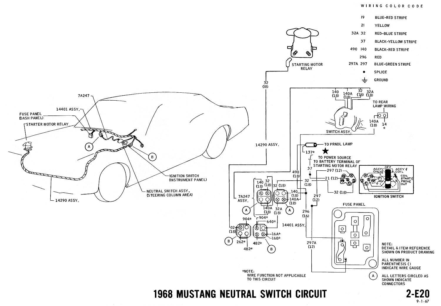 66 Mustang Neutral Safety Switch Wiring Diagram : Mustang wiring diagrams evolving software