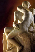 The Kiss by Rodin   (Permission by Mark Harden; http://www.artchive.com)
