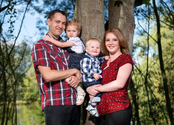herbstliche foto familie